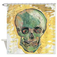 Vincent Van Gogh Skull Shower Curtain on CafePress.com