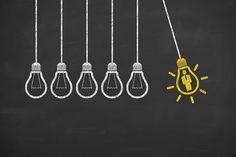 Concept of idea and innovation with light bulb on blackboard Blackboard Wall, Chalk Wall, Chalkboard Lettering, Chalkboard Signs, Concept Draw, Black Walls, Blackboards, Art Boards, Light Bulb