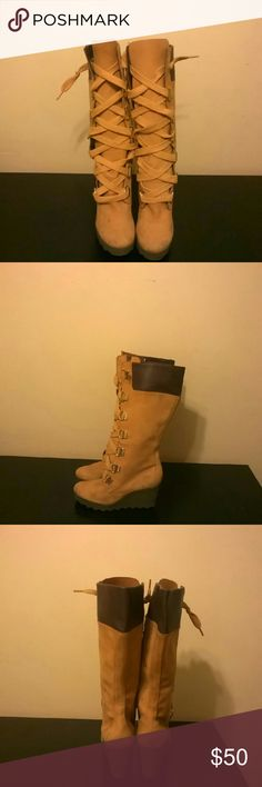 Timberland Wheat wedge Boots Timberland boots Shoes Lace Up Boots