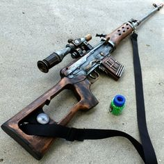 Steampunk cyber shot gun rifle Victorian pirate BB Airsoft  Spring GUN---ZOMBIE killer-- 39 inch Long