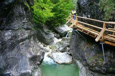 Nothklamm mit Nothklammsteg Rafting, Garden Bridge, Austria, Outdoor Structures, Travel, Group Tours, Road Trip Destinations, Nature, Viajes