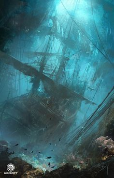 "followstarfall: "" kikyo0chan: "" artissimo: "" assassin's creed iv black flag underwater wreck by donglu yu CFSL.NET CAFE SALE -ARTBOOK T1 "" A friend of mine has this cook and its gorgeous! I..."