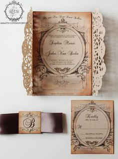 Pink Doily Wedding Invitation  Style 19  Save the Date  by GBPosh, $3.50