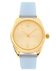 Pastel Blue Gold Watch