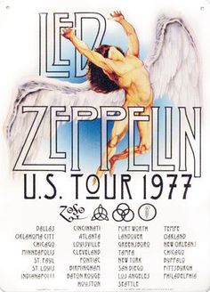 led zeppelin concert poster - I saw them in June of 1977