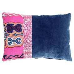 Check out this item at One Kings Lane! Nadine 14x20 Pillow, Blue
