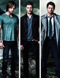 Jared, Jensen, & Misha s9 promo photoshoot