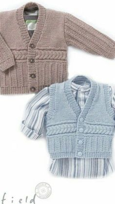 Textured Cardigan and a Waistcoat in Hayfield Baby Chunky - 4403. Discover more Patterns by Hayfield at LoveKnitting. The world's largest range of knitting supplies - we stock patterns, yarn, needles and books from all of your favorite brands.