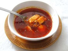 Delicious, a little bit spicy fish soup from pangasius. Easy and quick preparation. Hungarian Cuisine, Fish Soup, National Dish, Fresh Bread, Lactose Free, Red Peppers, Food Photo, Bon Appetit