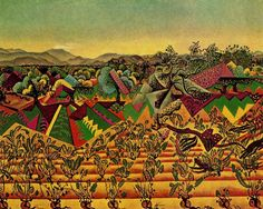 The Smile of the Flamboyant Wings - Joan Miro - WikiArt.org  Mont-roig, vineyards & olive tree - very quilterly!