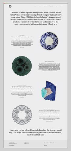 The ruby tree collection — Designspiration