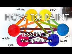 """In the fourth episode of artist Michael Markowsky's """"How to Paint"""" series, he demonstrates how choosing the right """"primary"""" colours for your palette will rad. Acrylic Painting Lessons, Painting Tips, Acrylic Tutorials, Painting Tutorials, Art Tutorials, Color Mixing Chart, Color Charts, Van Gogh Sunflowers, Painted Vans"""