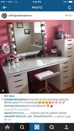 vanity bolt blogs interior design pinterest schminktische suche und design - Makeup Eitelkeit Beleuchtung Ikea