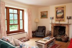 In Kirstie's Homemade Home, the presenter spent £150,000 bringing new life to the property, using reclaimed and recycled furniture throughout the house, including in the sitting room, pictured, wherever possible