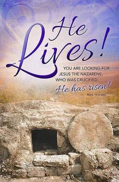 He lives! He has risen! Thank you Jesus! Prayer Verses, Bible Verses Quotes, Jesus Quotes, Bible Scriptures, Happy Easter Quotes Jesus Christ, He Is Risen Quotes, Jesus Is Risen, Jesus Is Lord, He Has Risen