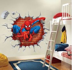 Super Hero Spider-Man Wall Sticker Decals Kids Baby Nursery Room Vinyl Decor Any person can create a house sweet hous. Baby Nursery Themes, Bedroom Themes, Nursery Room, Boy Room, Kids Bedroom, Kids Rooms, Bedroom Decor, Childrens Bedroom, Bedroom Ideas