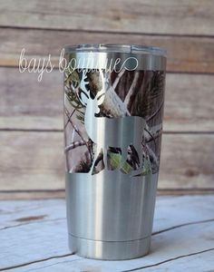 Camo Deer Decal Yeti Decal for Men Buck Decal by BaysBoutiqueCo