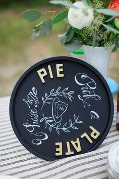 chalkboard dessert sign #diy #weddingdesserts #weddingchicks http://www.weddingchicks.com/2014/01/31/the-ultimate-diy-wedding/