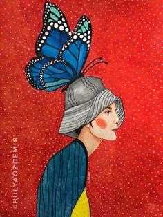 Artwork Prints, Poster Prints, Arte Popular, Naive Art, Portrait Art, Woman Portrait, Female Art, Art Pictures, Bunt