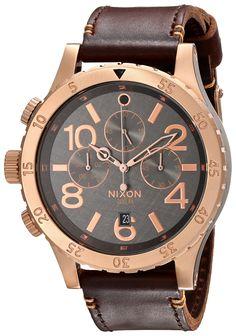 Nixon Men's A3632001 48-20 Chrono Leather Watch