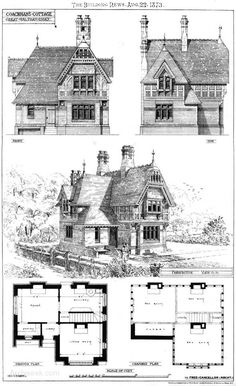"""Architect: Fred Chancellor Published in The Building News, August 22 1873: """"One of our illustrations this week is a Lodge recently erected for J. Jolliffe Tufnell, Esq., at Langley's-park, near Chelmsford"""