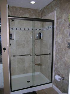 fiberglass standing shower - Google Search | Bathroom ...
