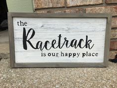 Items similar to Farmhouse Racing Sign on Etsy Nascar Quotes, Racing Quotes, Sign Fonts, Distressed Signs, Kart Racing, Dirt Track Racing, Sprint Cars, Old Signs, Alaska Travel