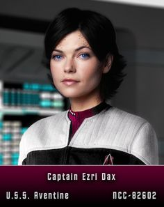 Captain Ezri Dax. Perhaps the most intriguing Dax host yet. [This is a storyline I'm not familiar with. NLP]
