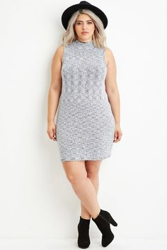 Plus Marled Knit Sweater Dress   FOREVER 21 saved by #ShoppingIS