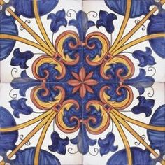 Portuguese hand painted decorative tiles