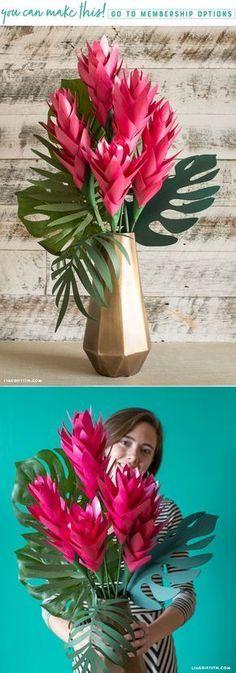 DIY Tropical Paper Ginger Flower
