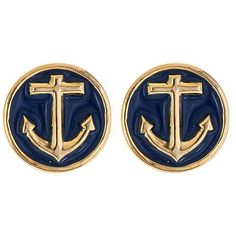 $25.00 Our Anchor Earrings are classic nautical cool with their rich gold anchor and bright preppy colors. Great paired with a sundress or even a casual tee and shorts, you're sure to be the best dressed first mate. Available in navy, white and pink.