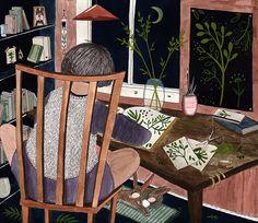 Hannes Herbarium, watercolor and gouache, illustration by Signe Gabriel