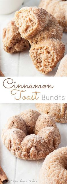 The perfect combination of cake and donut in these delicious Cinnamon Toast Bundts!   livforcake.com