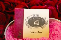 """Love Your.. Crazy Love Soap!    The name says it all! Made after the fragrance from our top seller """"Love bomb"""" is the ultimate romantic choice for bath time and setting the mood! With wild berries and wild passion, it's the perfect combination! It's a powerful aphrodisiac that will relax you as it warms your heart, body and soul- a MUST for a romantic bath and shower. With passionate fragrances, silky skin and love in theshower you can fully enjoy your luxurious soak with our best-selling…"""