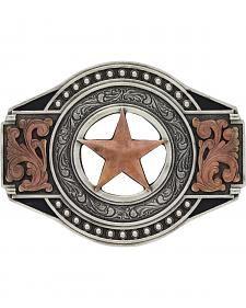 Two Tone Open Texas Ranger Star Attitude Buckle