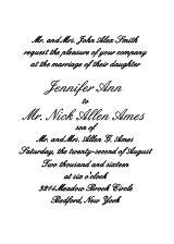 The Simple Luxury Wedding Invitation