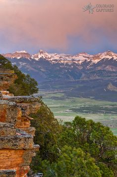 "'Cimarron Sunset' | Photo and caprion by Mike Berenson: ""This image of the Cimarron Range was taken at a locally known spot called Inspiration Point above the town of Ridgway, Colorado."""