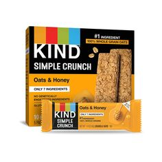 KIND Simple Crunch Bars (Pack of 40) as low as $13.09! Kind Granola Bars, Amazon Subscribe And Save, Oats And Honey, Good Source Of Fiber, Gluten Free Oats, Gourmet Recipes, Snacks, Simple, Coupon Queen