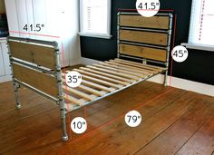 """That's My Letter: """"P"""" is for Pipe & Wood Slats Bed  Note: i thought this would make a cool base for a diy couch, but it's about 500 dollars. Eesh. And pvc probably couldnt supports the abuse. Right?"""