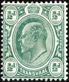"Transvaal 1905 Scott 281 ½p green ""Edward VII"""