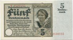 5 Rentenmark 1926 (Bauernmadl) Deutschland Weimarer Republik