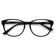 Women's Mars - Black round - 16251 Rx Eyeglasses ($29) ❤ liked on Polyvore featuring accessories, eyewear, eyeglasses, round glasses, cocktail glasses, rounded glasses, round cocktail glasses and round eyewear