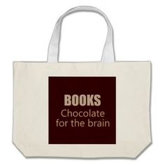 BOOKS Chocolate for the brain Large Tote Bag