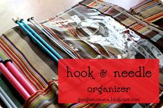 Crochet hook and knitting needle organizer