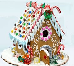 Today is Gingerbread House Day! Share your gingerbread house photos with us - we can't wait to see! Gingerbread Village, Christmas Gingerbread House, Christmas Love, Christmas Crafts For Kids, Gingerbread Man, Christmas Baking, Christmas Cookies, Xmas, Christmas Ideas