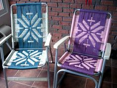Can you make folding aluminum lawn chairs look cool? Maybe so. These patterns are great!