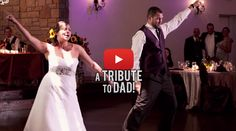These siblings surprised #wedding guests with a tribute to their late father.