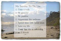 Sunday To Do List