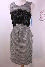 Antonio Melani New Billy Crew Neck Tweed Lace Sheath Dress Size 2 4 6 8 10 12 14